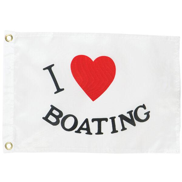 """I Luv Boating"" Flag"