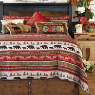 Cabin and Lodge Stripe 3-piece Queen Quilt Set
