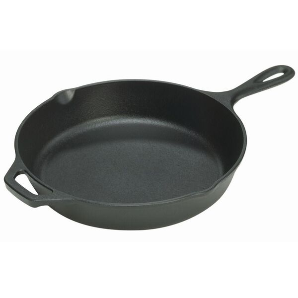 Lodge Cast Iron Seasoned Skillet with Assist Handle, 12""