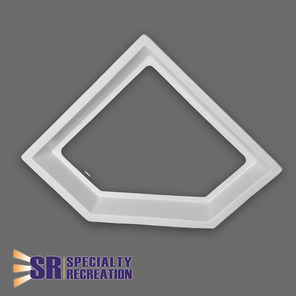"Neo Angle Inner Garnish Skylight, Clear 26"" x 10"""