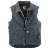 Carhartt Men's Sandstone Sherpa-Lined Mock-Neck Vest
