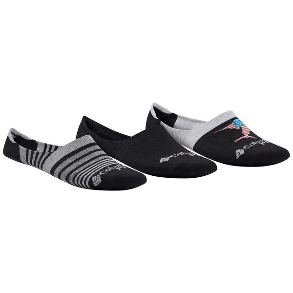 Columbia Men's PFG Americana Liner Socks, 3-Pack