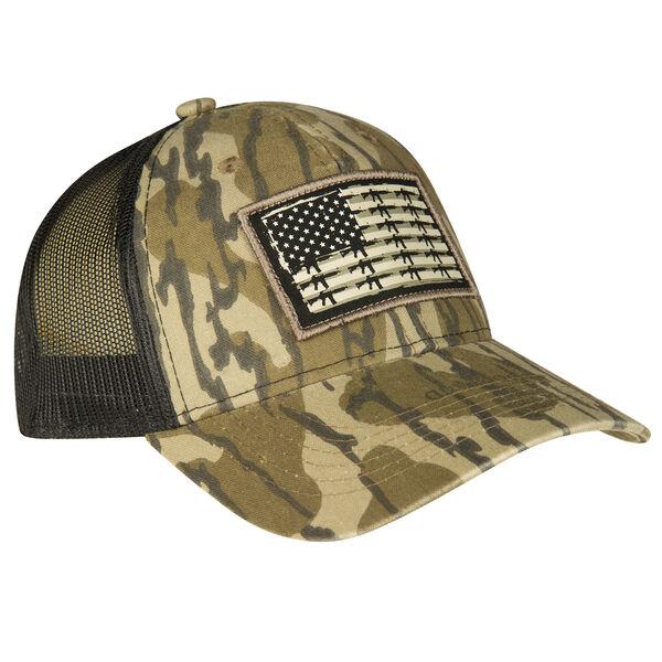 Mossy Oak Men's Gun Flag Patch Mesh-Back Cap