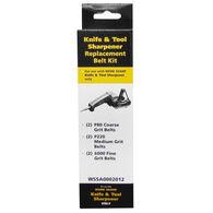 "Work Sharp WSKTS Assorted Replacement Belt Accessory Kit, 1/2"" x 12"", 6-Pack"