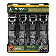 """Camo 8'L x 1""""W Ratchet Tie Downs, 4-Pack"""