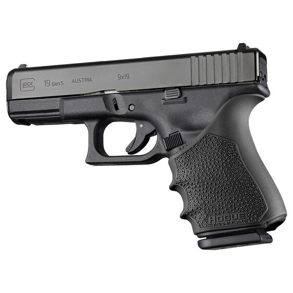 Hogue Glock 19 Gen 1/2/5 HandAll Beavertail Grip Sleeve, Black