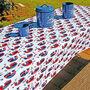 """Patriotic Tablecloth, 82"""" x 54"""""""