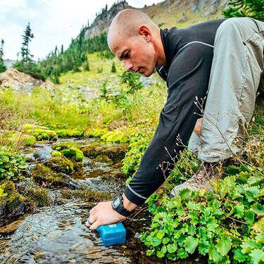 Sawyer Foam Water Filter and 20-oz. Green Bottle