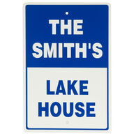 Personalized Dock Sign With Reflective Vinyl
