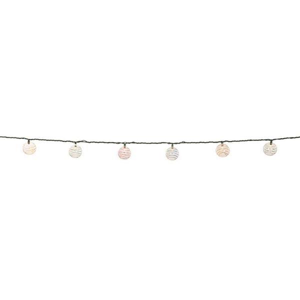 "Round Swirly Lights, 8'6"" cord, 10 mini lights"