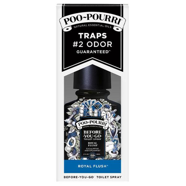 Poo-Pourri Royal Flush Before-You-Go Toilet Spray, Eucalyptus and Spearmint, 2-oz.