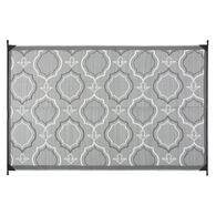 Reversible Magnolia Design RV Patio Mat, 8' x 11', Black/Gray