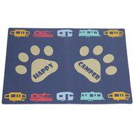 Happy Camper Dog Bowl Mat