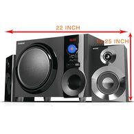Bluetooth Shelf Speaker System, Black