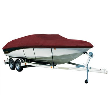 Covermate Sharkskin Plus Exact-Fit Cover for Princecraft Sport Fisher 22  Sport Fisher 22 Seats & Bimini Aft Laid Down O/B