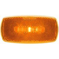 Oval LED Clear/Marker Light, Amber