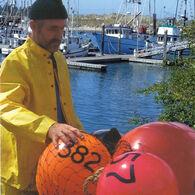 "Commercial Fishing Net Buoy, Yellow (12"" x 16"")"