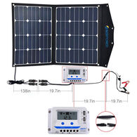 ACOPOWER LTK 80W Foldable Solar Panel Suitcase with 10A Charge Controller