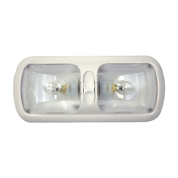"""Gustafson 11.25"""" Overhead Double Incandescent Light with Switch"""