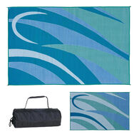 Reversible Graphic Design RV Patio Mat, 8' x 16', Blue/Green