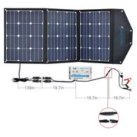 ACOPOWER LTK 105W Foldable Solar Panel Suitcase with 10A Charge Controller
