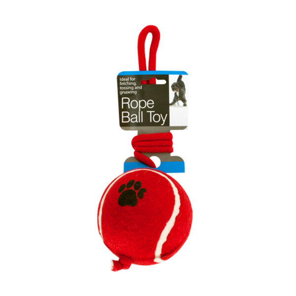 Jumbo Tennis Ball with Rope Dog Toy