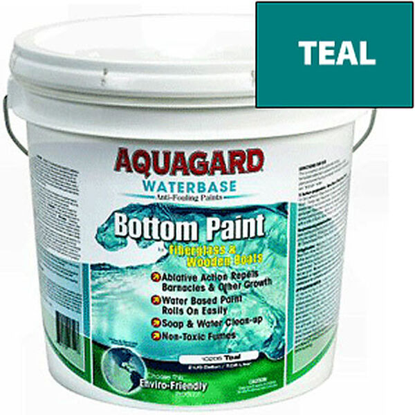 Aquaguard Waterbase Anti-Fouling Bottom Paint, 2 Gallons, Teal