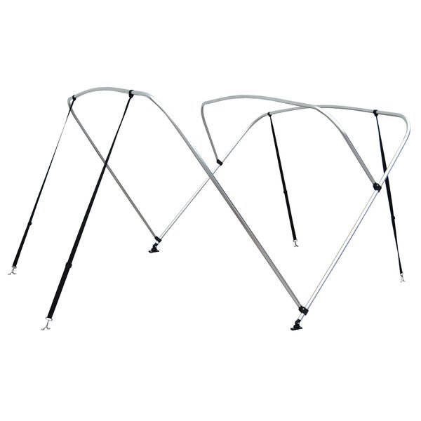 """Shademate Bimini Top 3-Bow Aluminum Frame Only, 6'L x 54""""H, 61""""-66"""" Wide"""