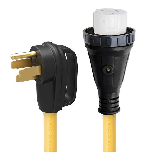 25' 50 Amp Detachable Power Cord with Handle & Indicator Light
