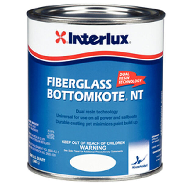 Interlux Blue Fiberglass Bottomkote NT, Quart