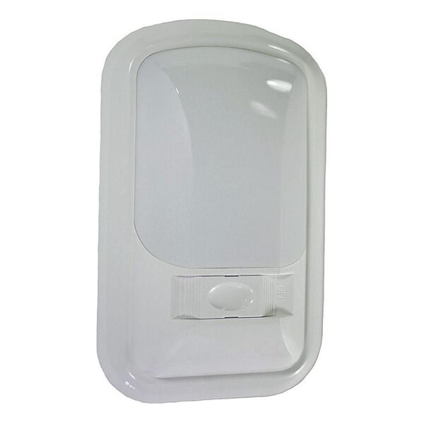 Single Euro Style Dome Light, Frosted White Lens