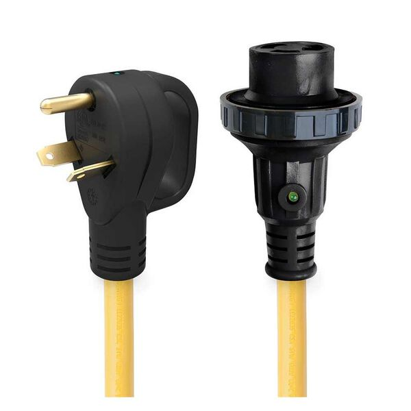 30' 30 Amp Detachable Power Cord with Handle & Indicator Light