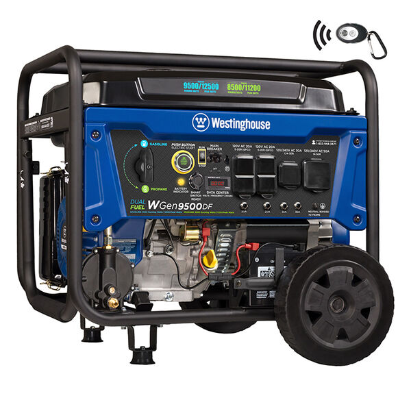 Westinghouse WGen9500DF 12,500/9,500-Watt Dual Fuel Portable Generator
