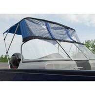 Bimini Top For Deep V Aluminum Fishing Boat w/Walk-Thru Windshield, 3 Bow 79-84W