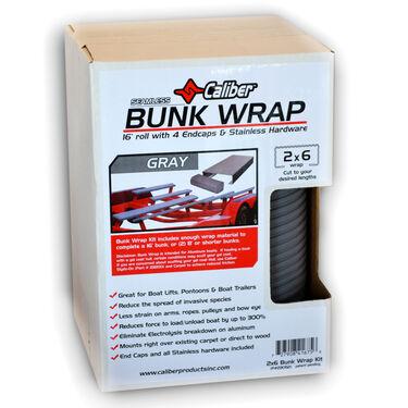 """Caliber Bunk Wrap Kit For 2"""" x 6"""" x 24' Bunks, Gray"""