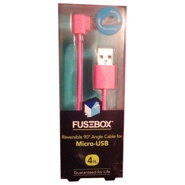 FuseBox Reversible 90° Micro-USB Angle Cable, 4 Ft.