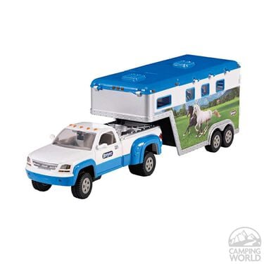 Toy Truck with Gooseneck Horse Trailer