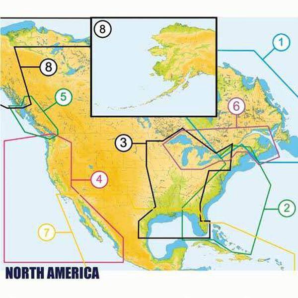 C-MAP MAX Wide Map, US West Coast And Hawaii, NA-MO24