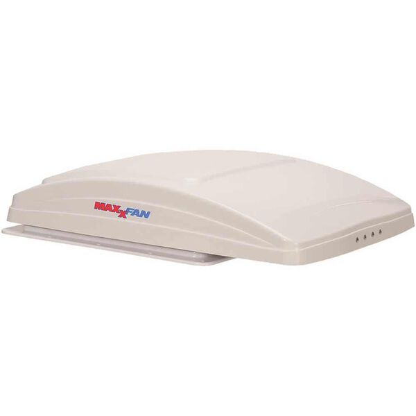 MaxxFan Deluxe Manual-Opening RV Ventilator System, White Lid