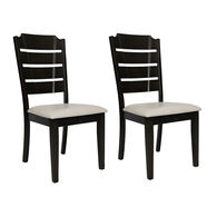 Allure Veneto Fixed Dinette Chairs, pair