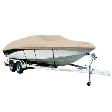 Covermate Sharkskin Plus Exact-Fit Cover for Crestliner Cx 1860   Cx 1860 W/Minnkota Troll Mtr Dual Console O/B