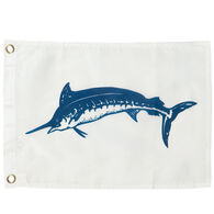 Blue Marlin Boat Flag