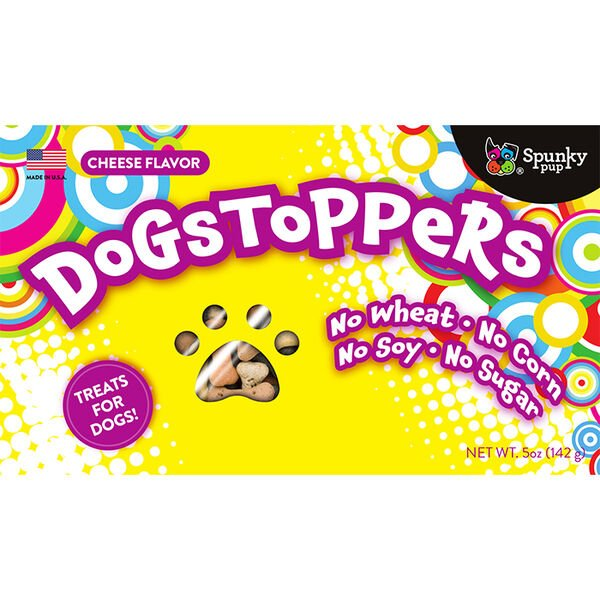 Spunky Pup Dogstoppers Dog Treats, Cheese Flavor, 5 oz.