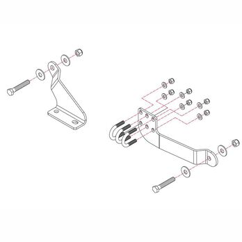Roadmaster Reflex Steering Stabilizer Mounting Bracket, RBK3