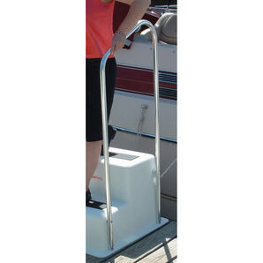 """Double Step Dock Step Handrail Only, 19.5""""Wx49""""H"""