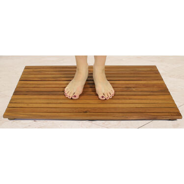 SeaTeak Shower Mat With Oil Finish
