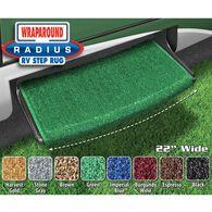 "Prest-O-Fit Wraparound Radius RV Step Rug, 22"", Green"