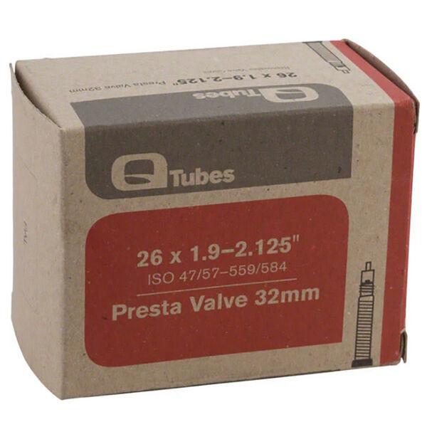 """Q-Tubes 26"""" X 1.9-2.125"""", Presta Tube"""