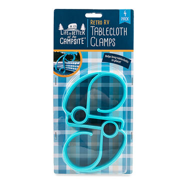 Camco Retro RV Tablecloth Clamps, 4-Pack