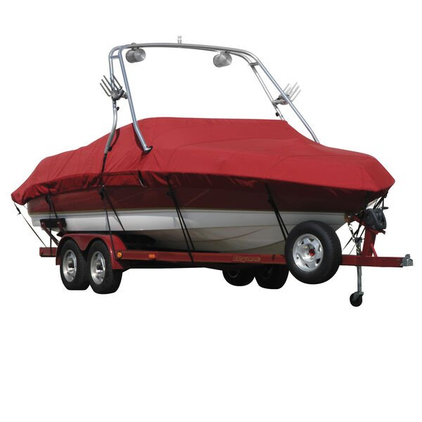 Exact Fit Sharkskin Boat Cover For Tige 24 V W/Phat Tower Covers Platform